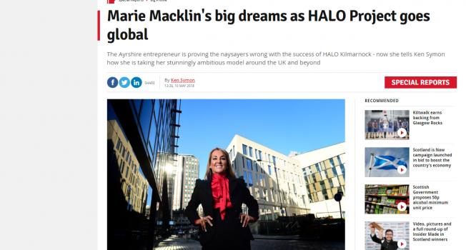 Marie Macklin talks HALO to Business Insider